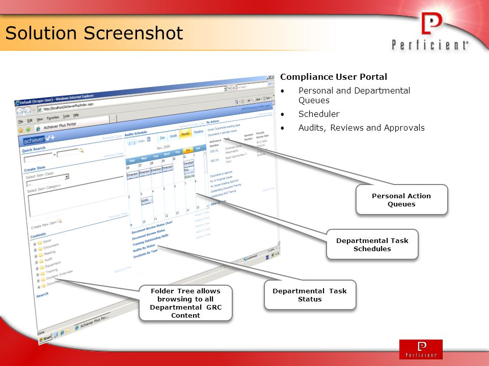 Solution Screenshot Compliance User Portal