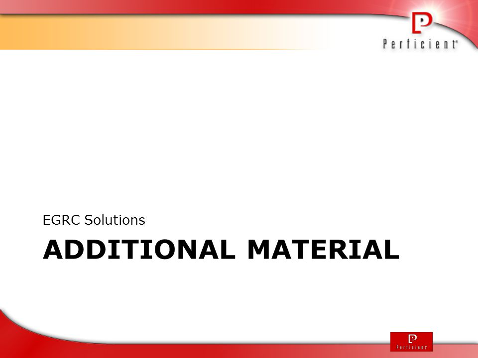 EGRC Solutions Additional Material