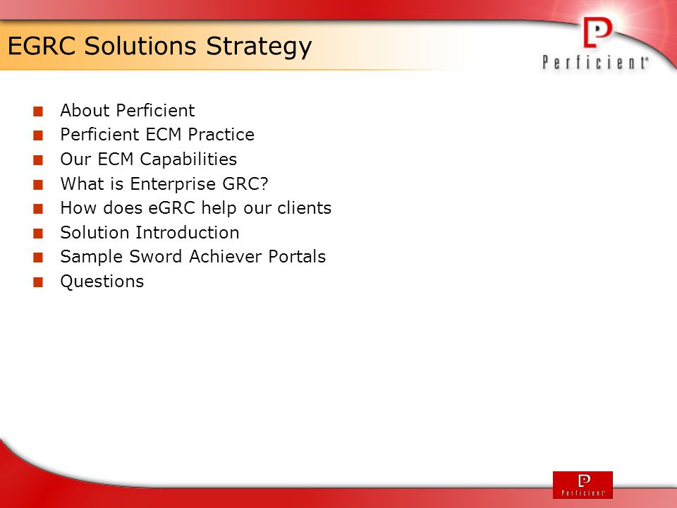 EGRC Solutions Strategy