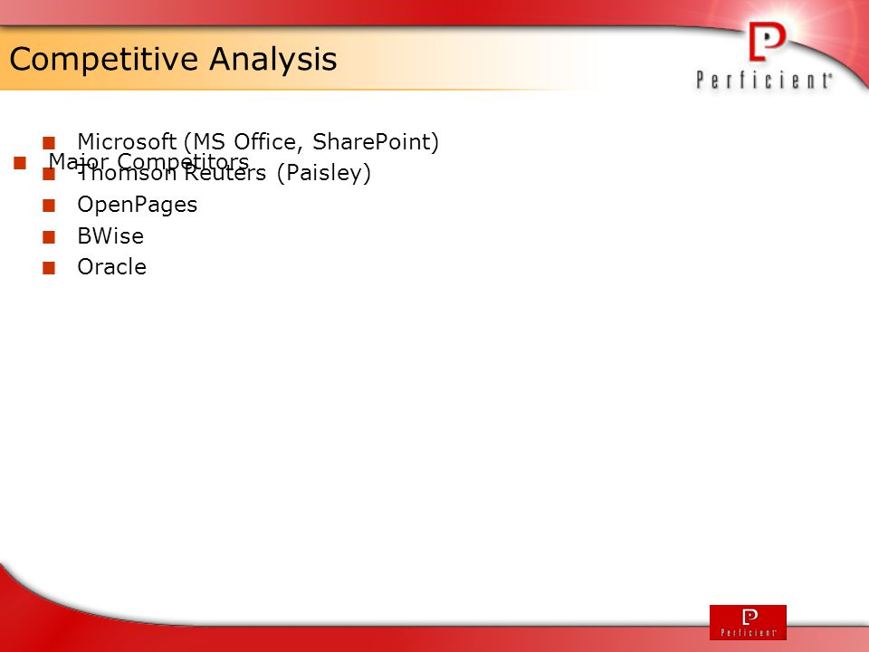Competitive Analysis Microsoft (MS Office, SharePoint)