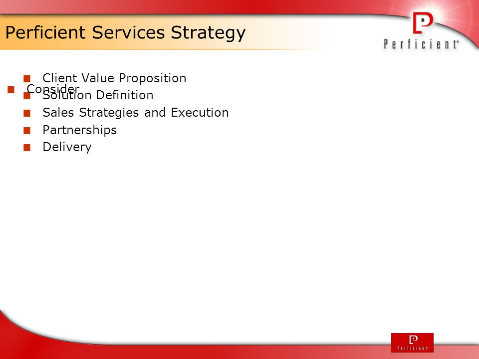 Perficient Services Strategy