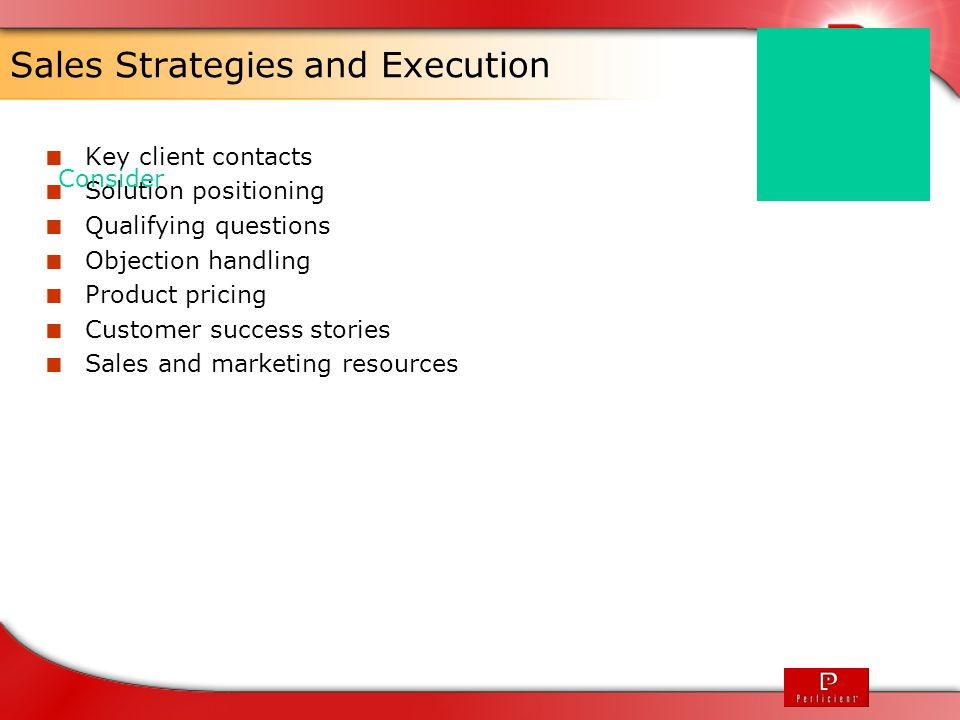 Sales Strategies and Execution