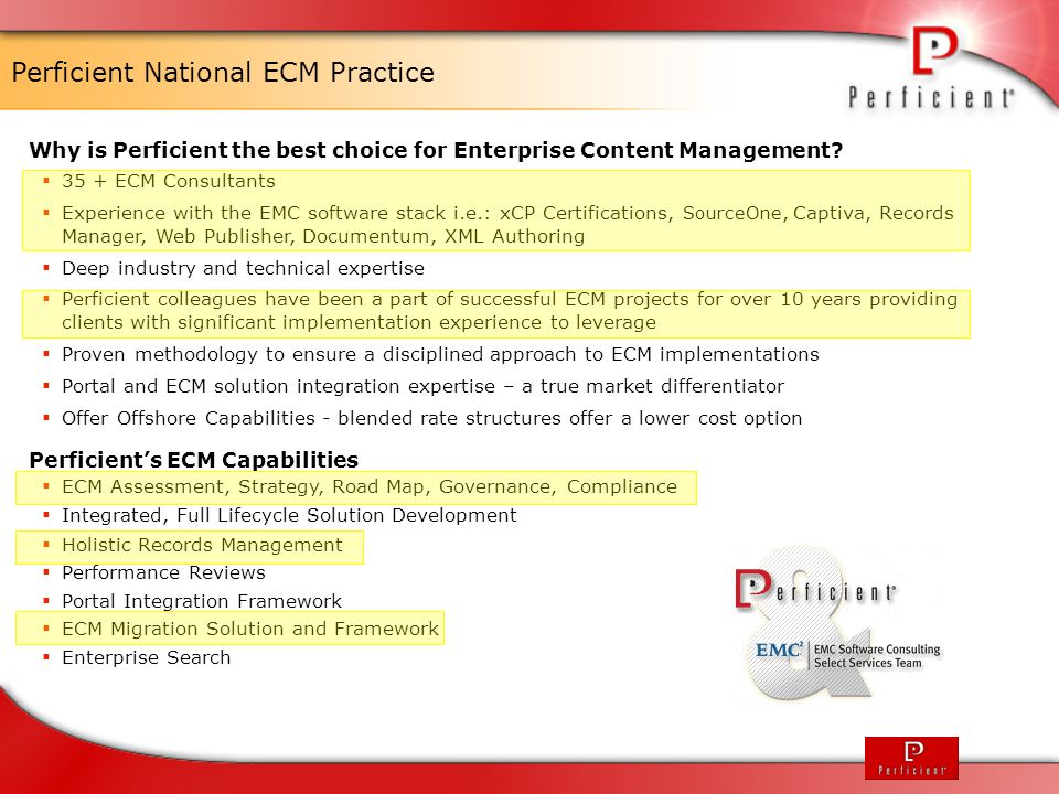 Perficient National ECM Practice