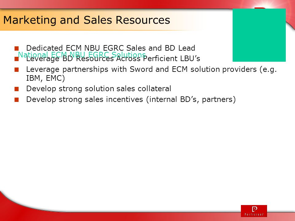 Marketing and Sales Resources
