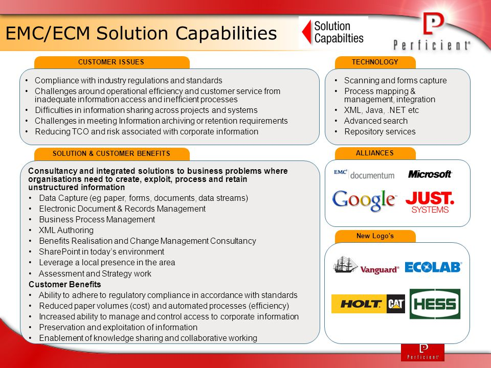 EMC/ECM Solution Capabilities
