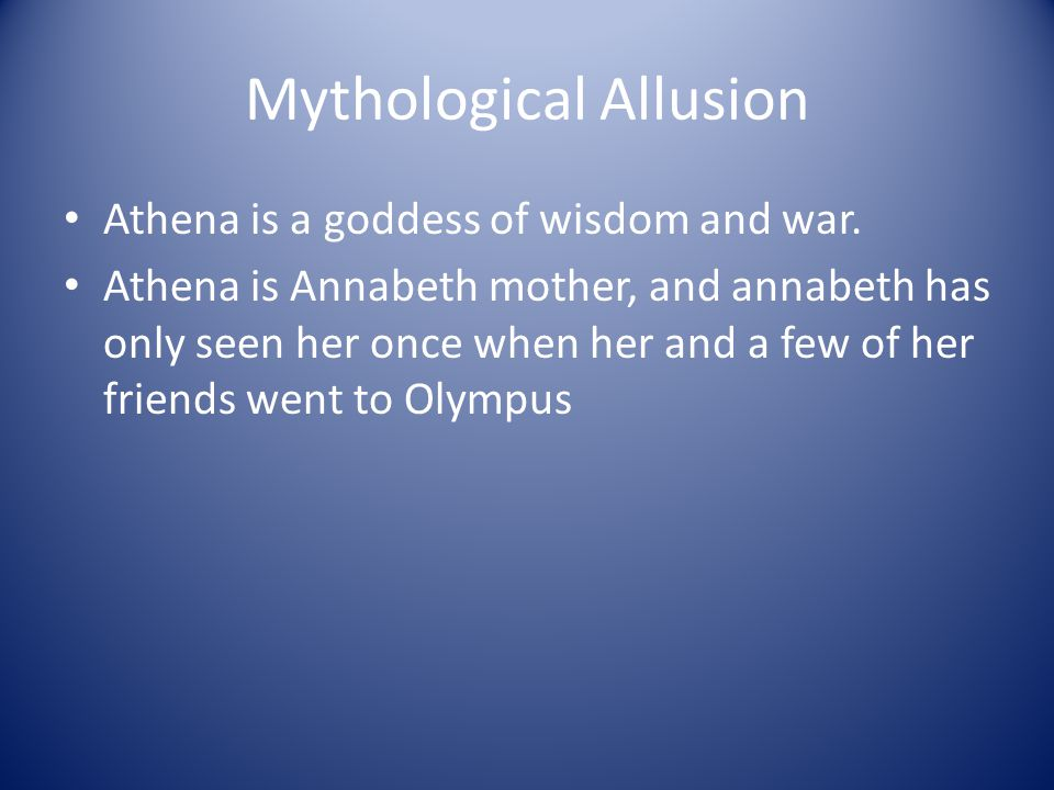 Mythological Allusion