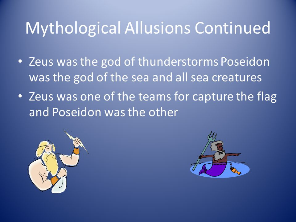 Mythological Allusions Continued