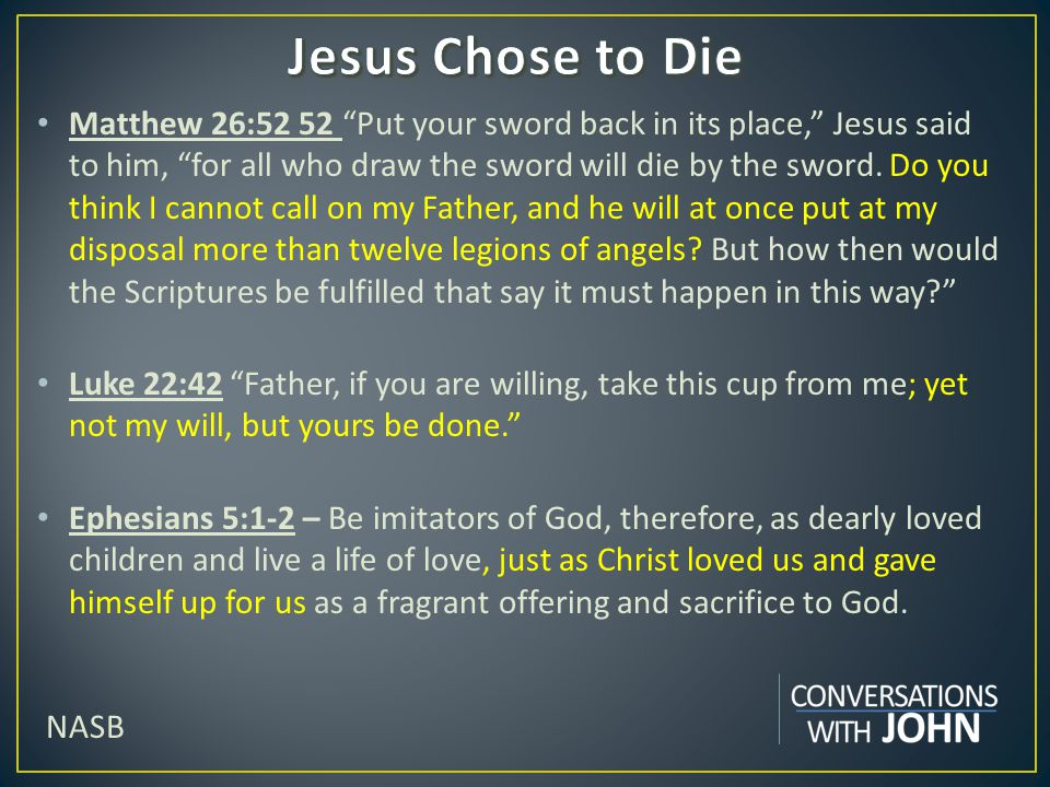 Jesus Chose to Die