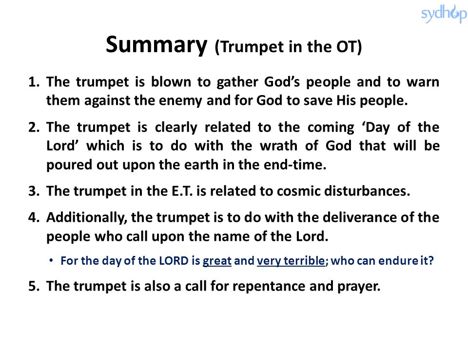 Summary (Trumpet in the OT)