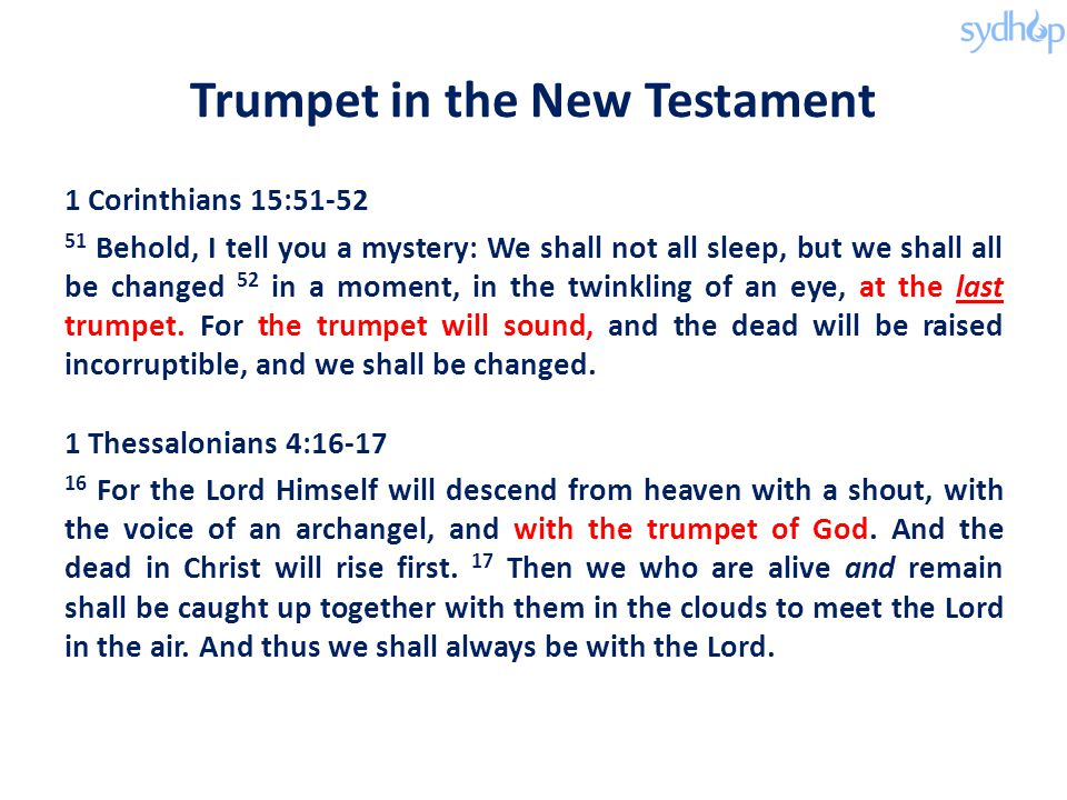 Trumpet in the New Testament