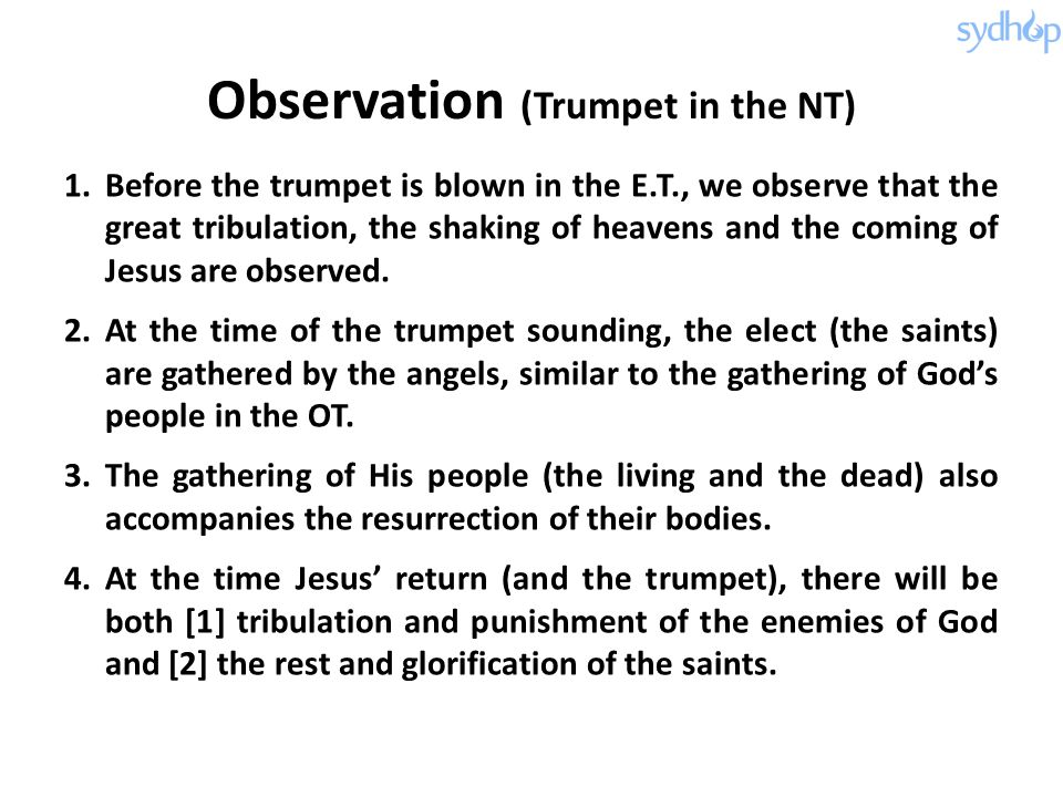 Observation (Trumpet in the NT)