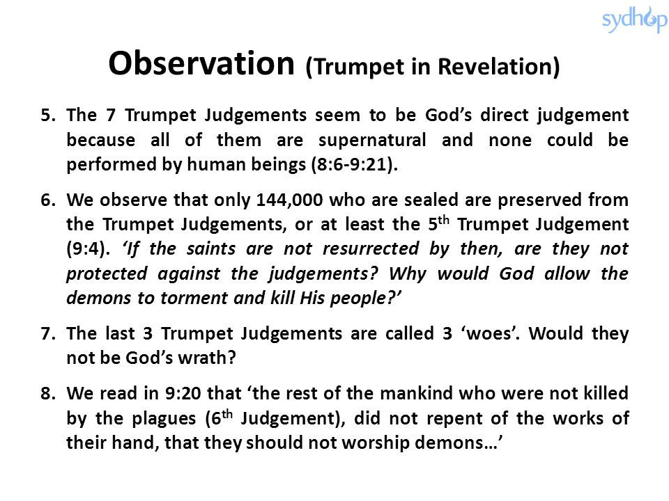 Observation (Trumpet in Revelation)
