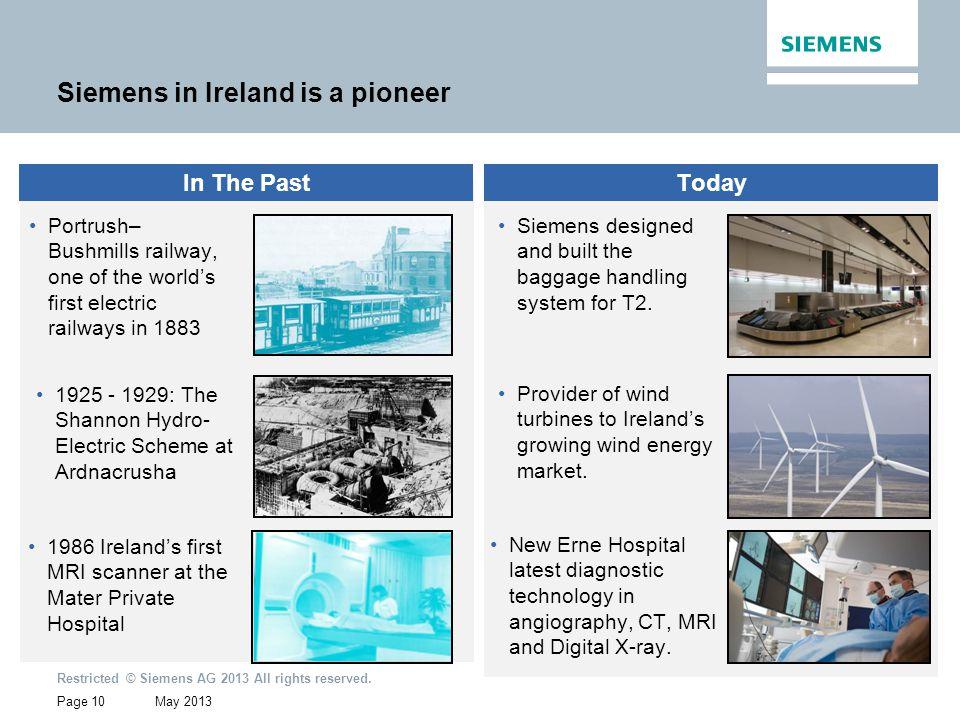Siemens in Ireland is a pioneer