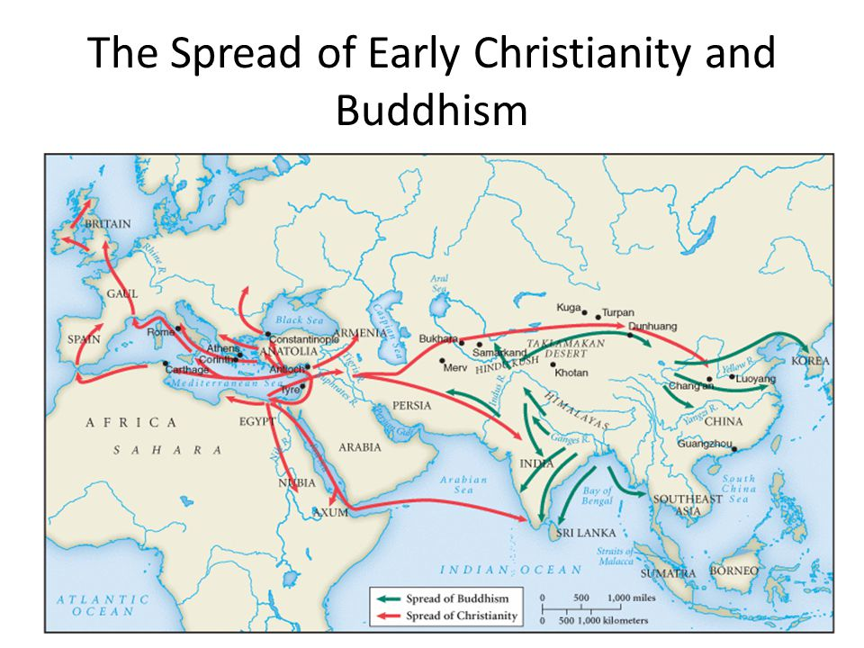 The Spread of Early Christianity and Buddhism