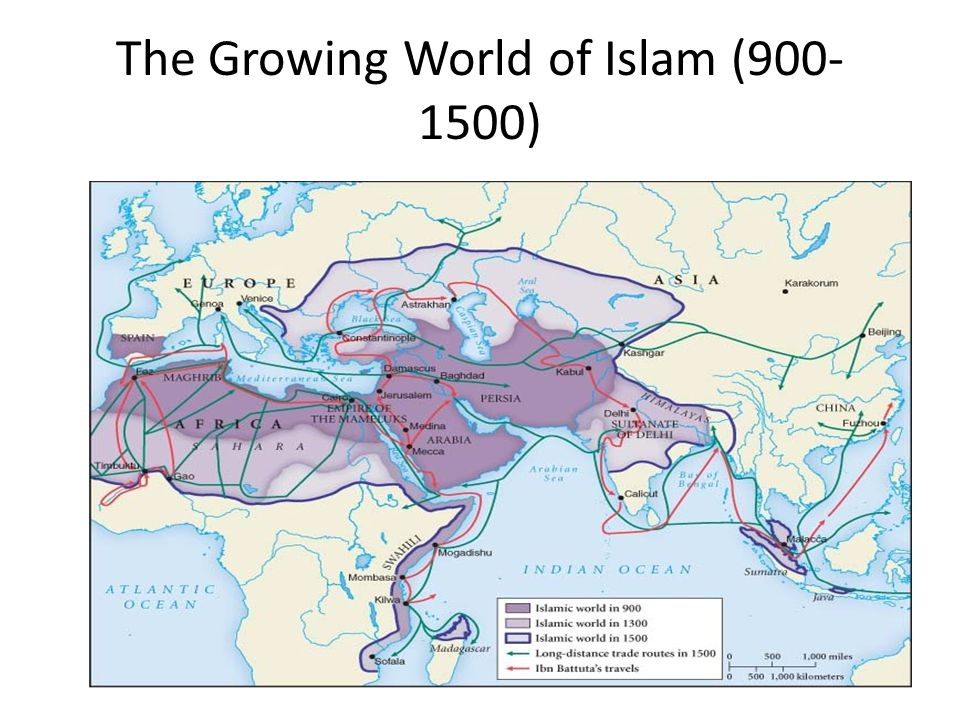 The Growing World of Islam (900-1500)