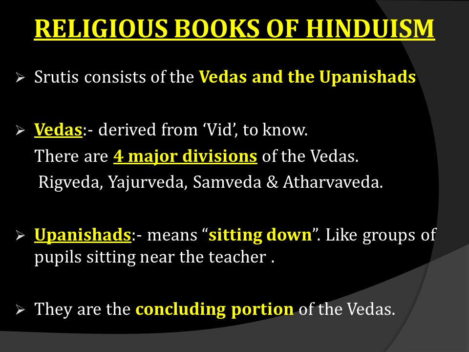 RELIGIOUS BOOKS OF HINDUISM