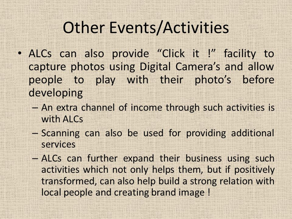 Other Events/Activities
