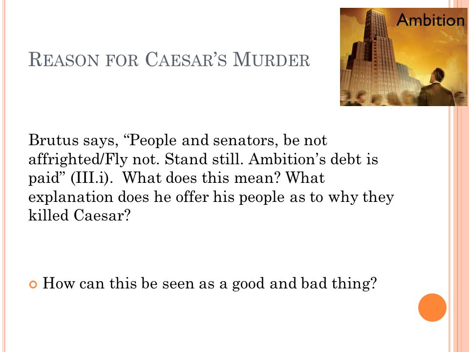Reason for Caesar's Murder