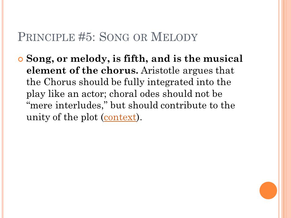 Principle #5: Song or Melody