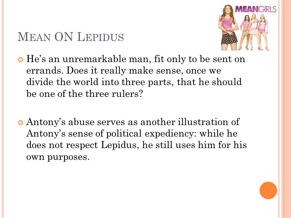 Mean ON Lepidus