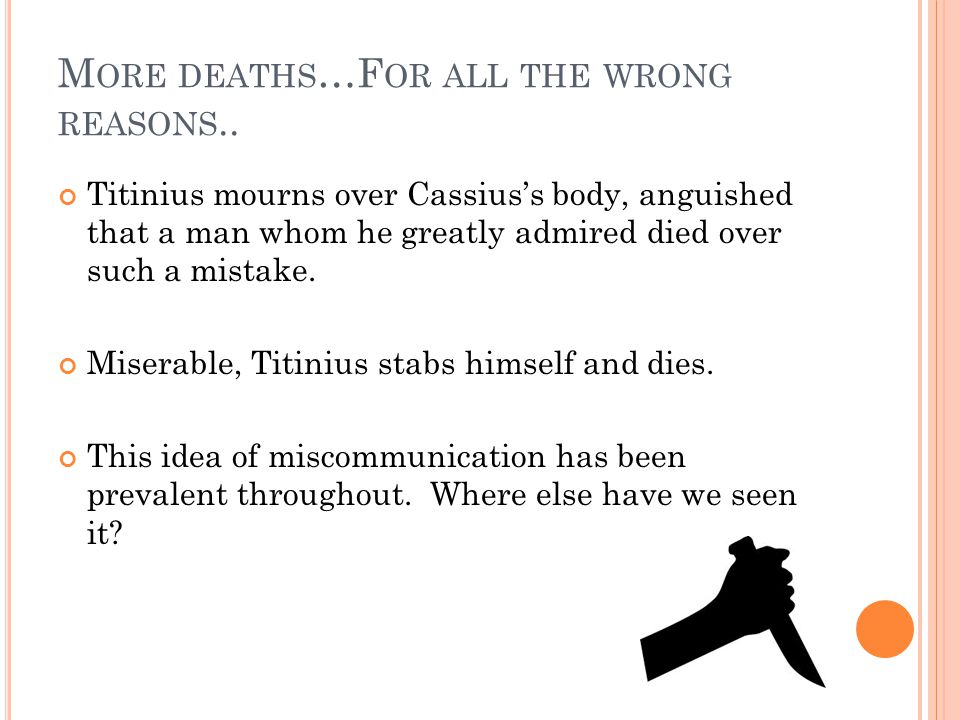More deaths…For all the wrong reasons..