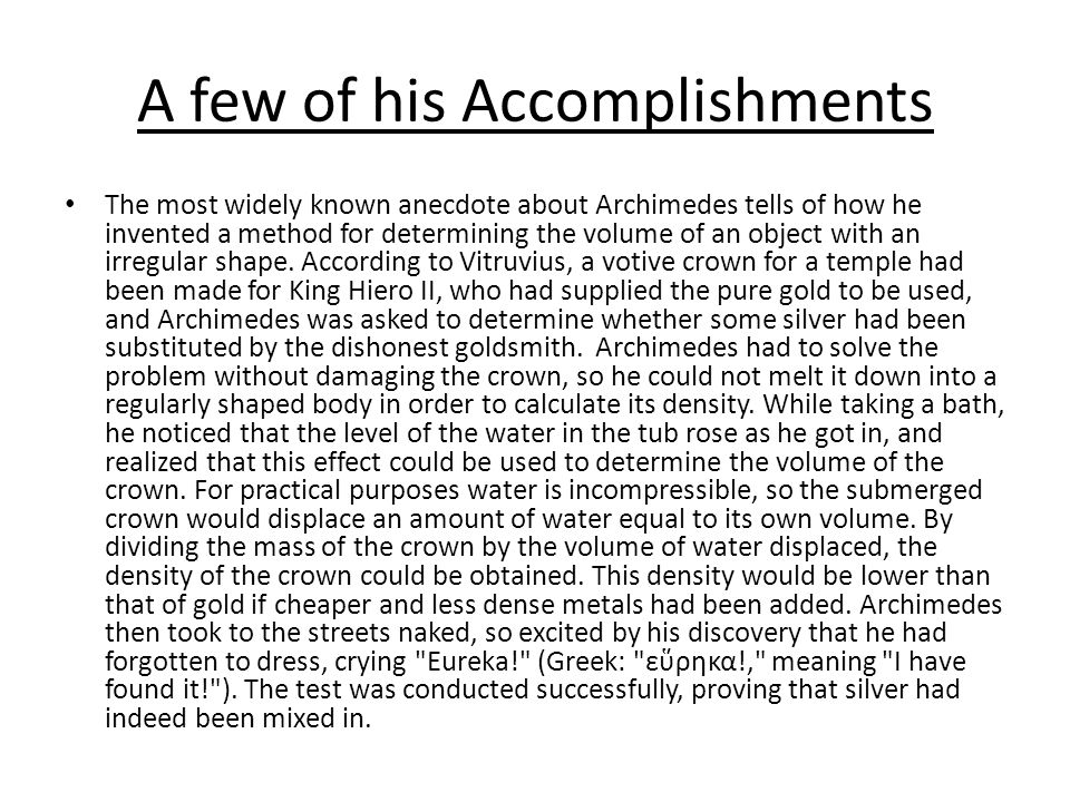 A few of his Accomplishments