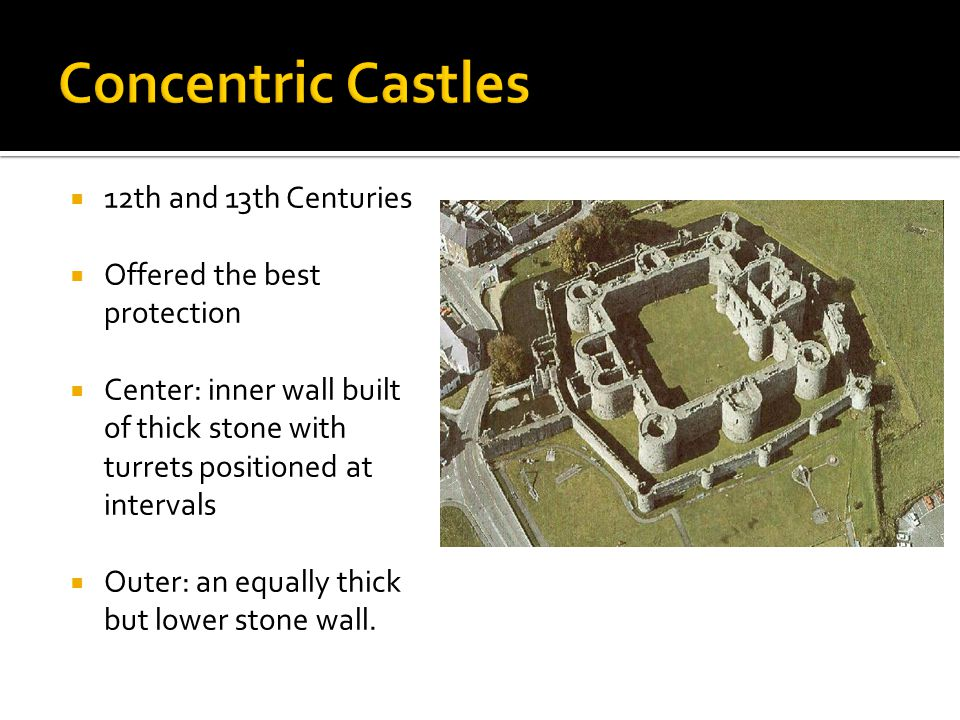Concentric Castles 12th and 13th Centuries Offered the best protection