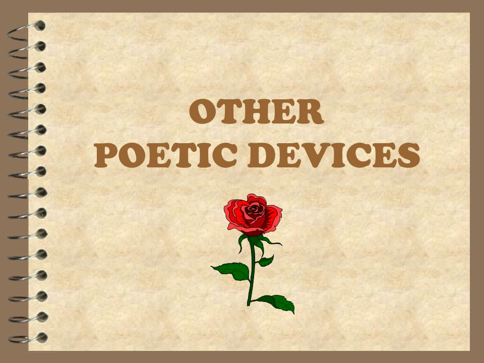 OTHER POETIC DEVICES