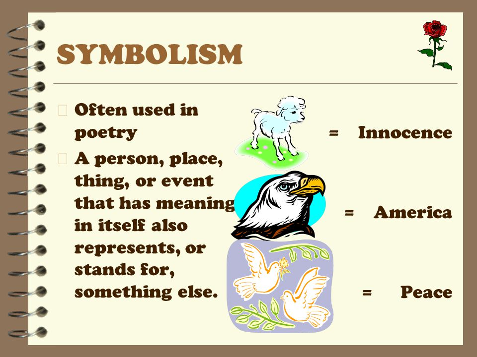 SYMBOLISM Often used in poetry = Innocence