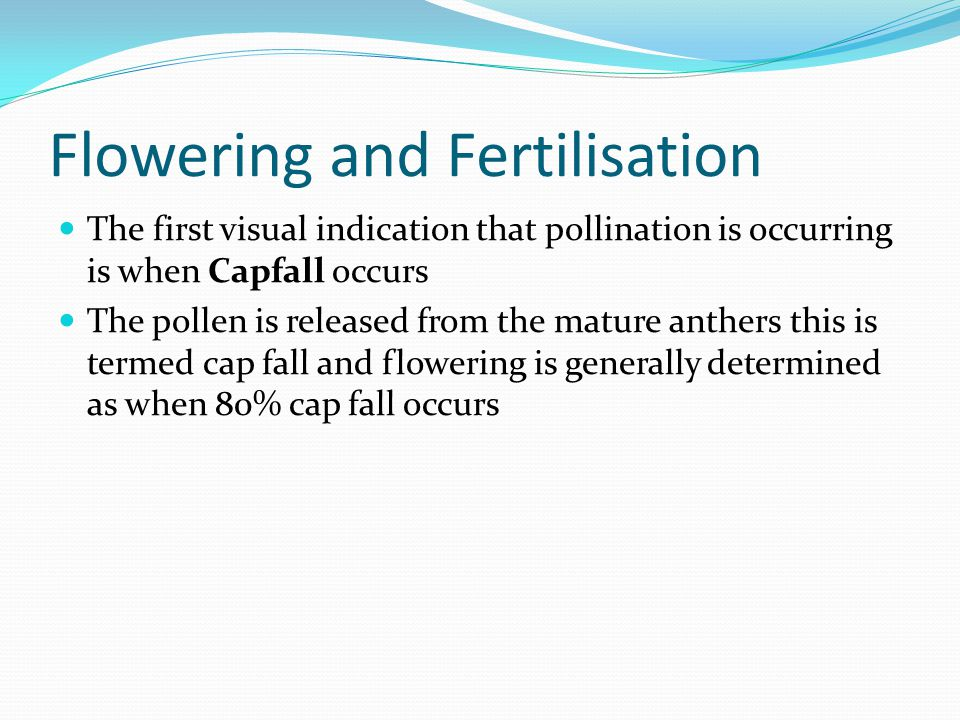 Flowering and Fertilisation