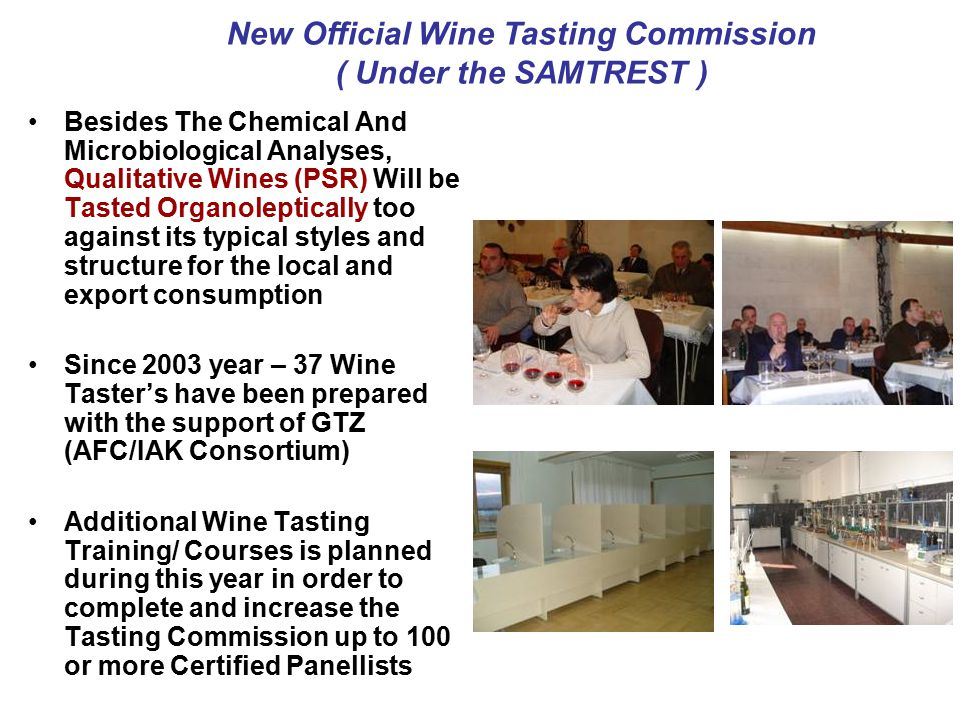 New Official Wine Tasting Commission
