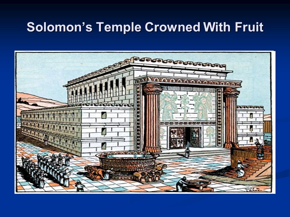Solomon's Temple Crowned With Fruit
