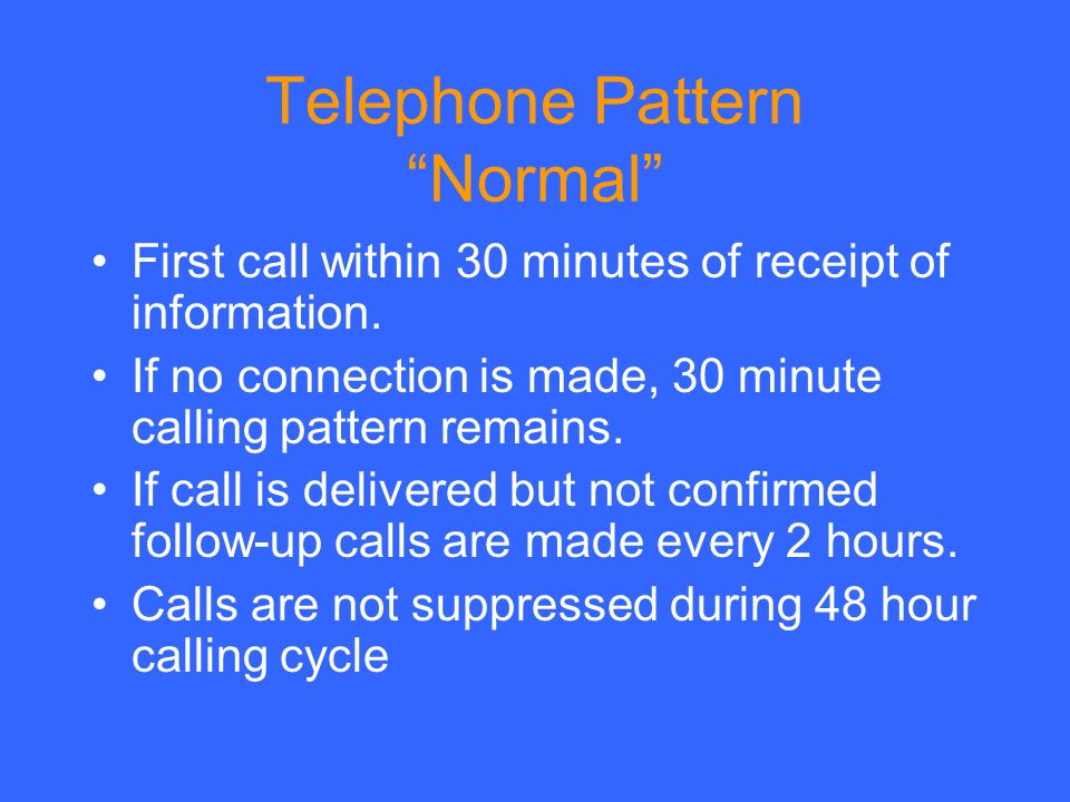 Telephone Pattern Normal