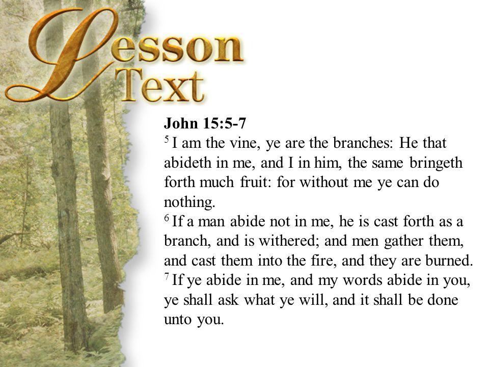 John 15:5-7 John 15:5-7.