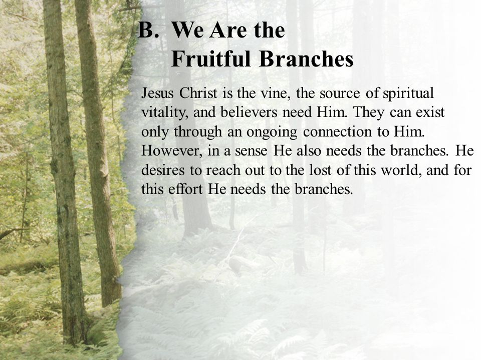 I. Our Relationship with Christ (B)