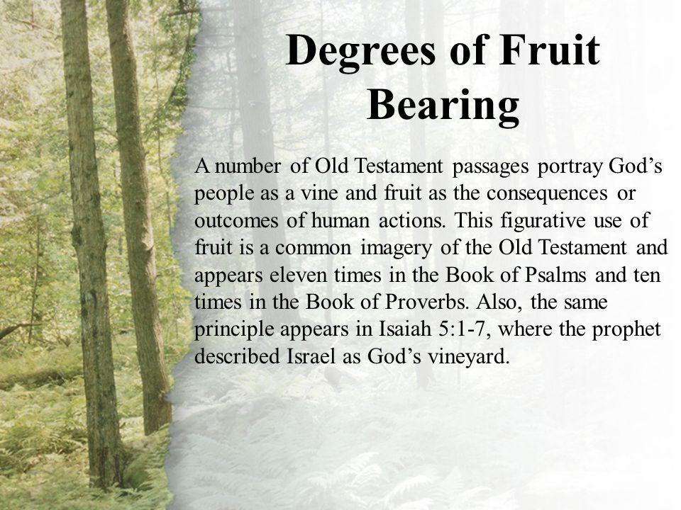 III. Degrees of Fruit Bearing