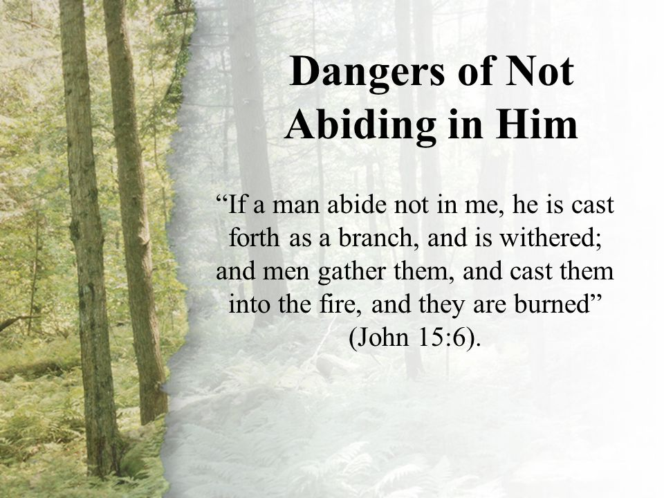 IV. Dangers of Not Abiding in Him