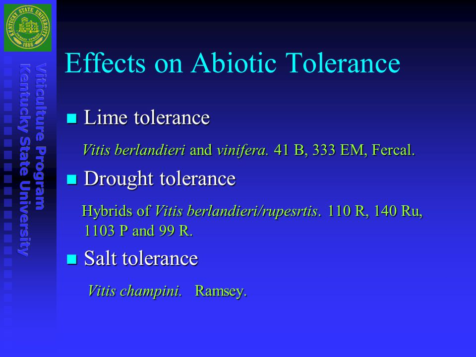 Effects on Abiotic Tolerance