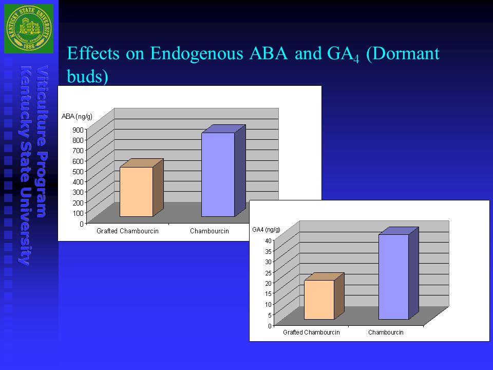 Effects on Endogenous ABA and GA4 (Dormant buds)