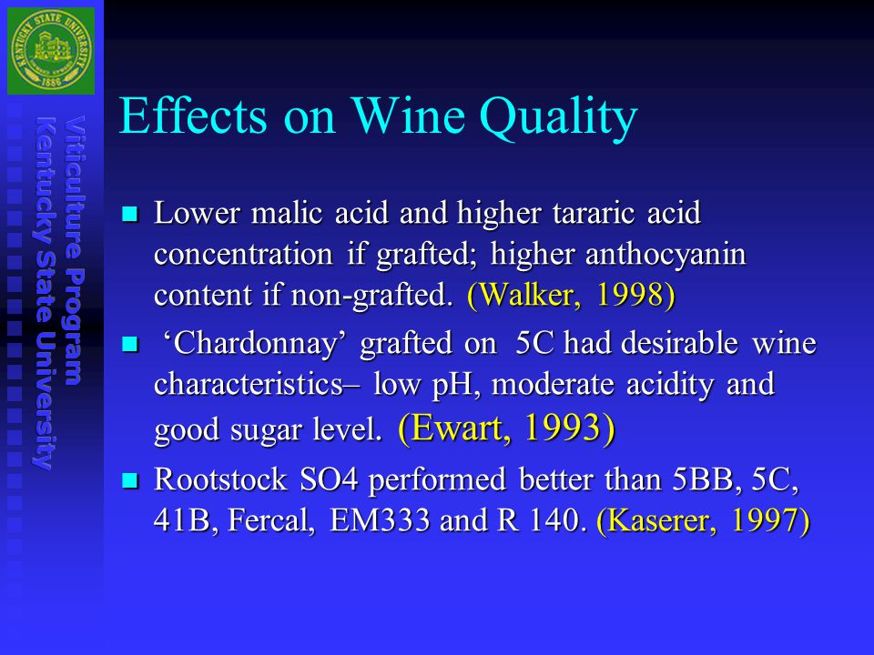 Effects on Wine Quality