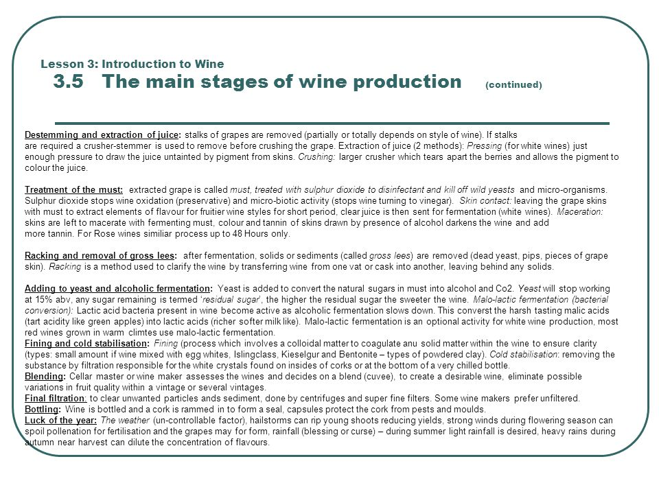Lesson 3: Introduction to Wine 3