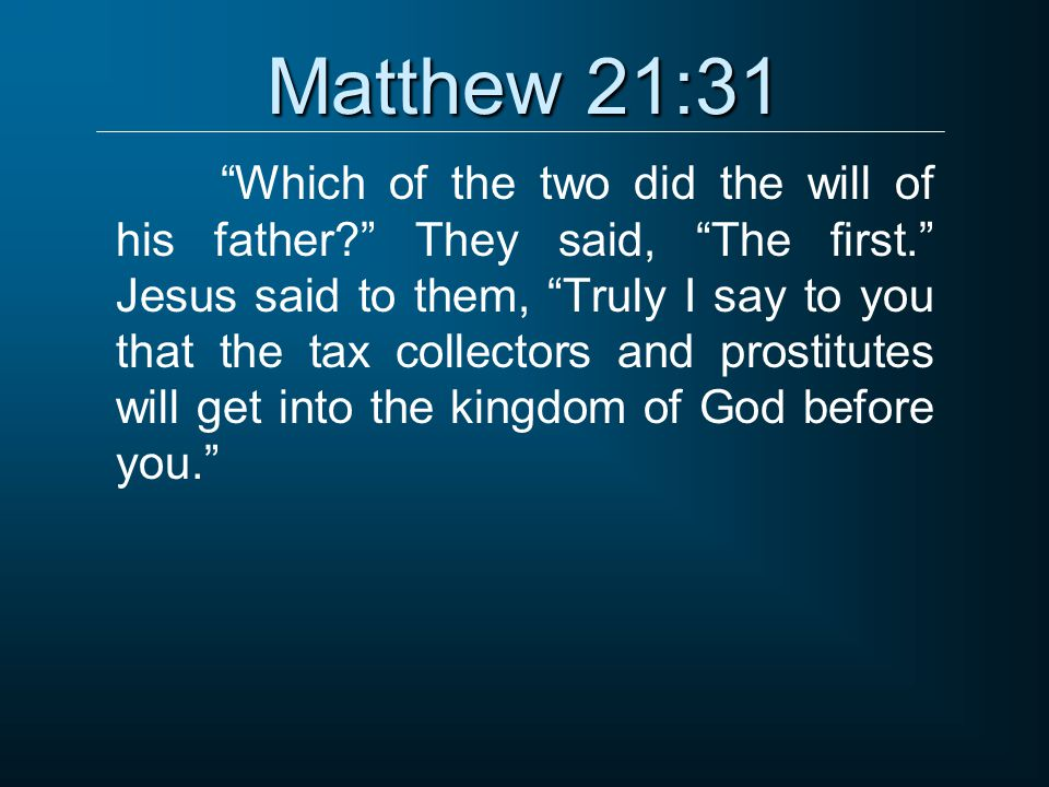 Matthew 21:31
