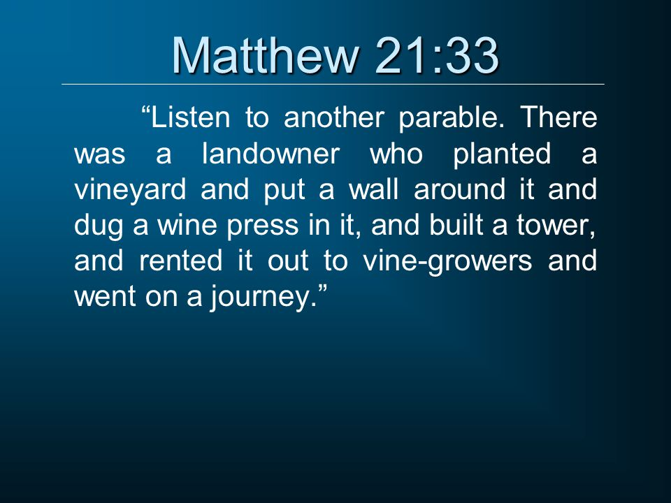 Matthew 21:33