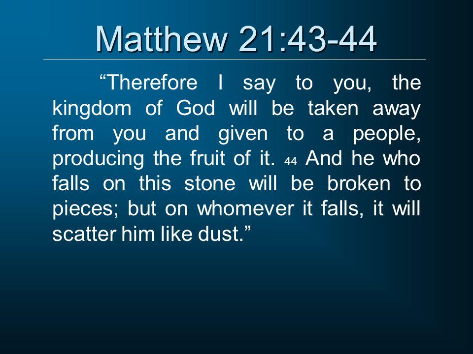 Matthew 21:43-44