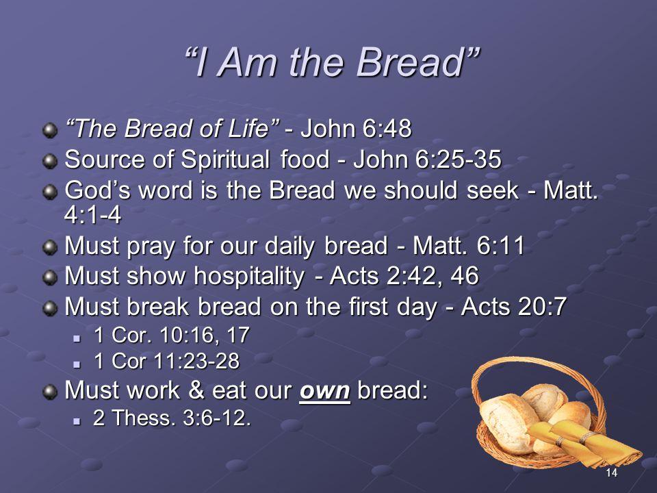 I Am the Bread The Bread of Life - John 6:48