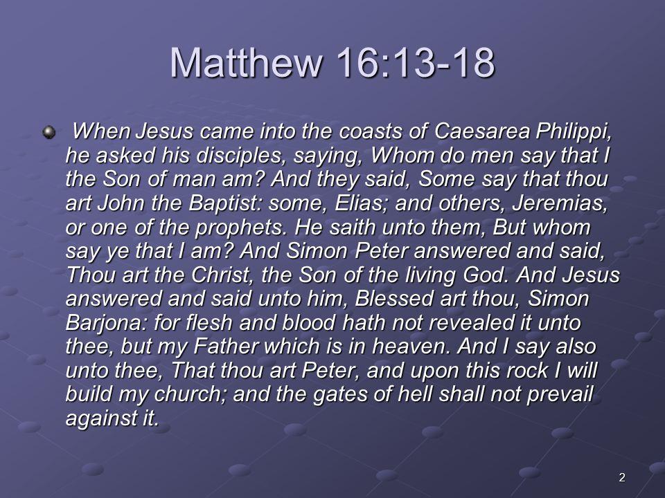 Matthew 16:13-18