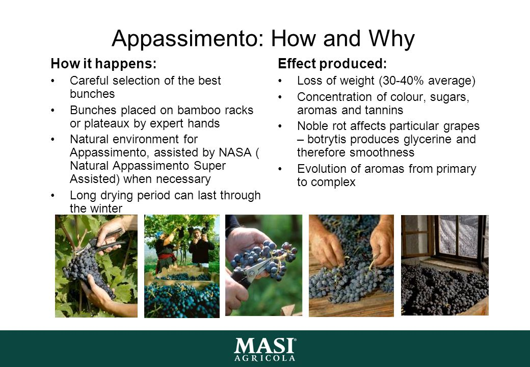 Appassimento: How and Why