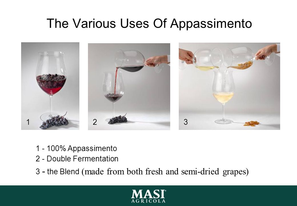 The Various Uses Of Appassimento