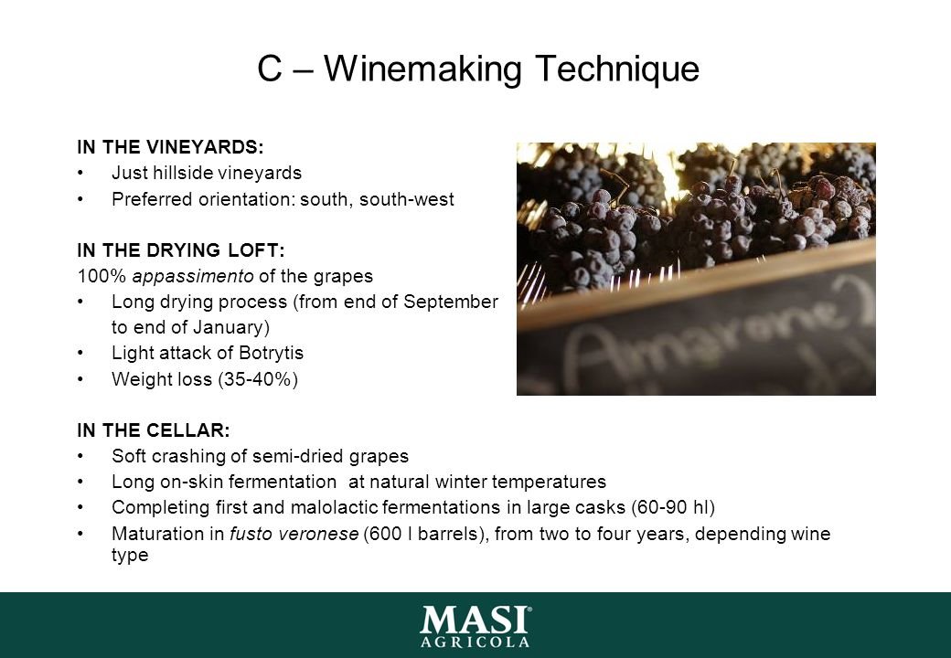 C – Winemaking Technique