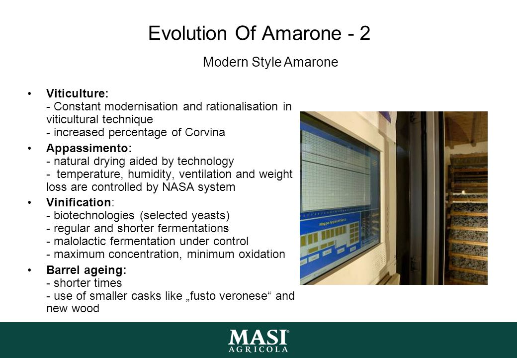 Evolution Of Amarone - 2 Modern Style Amarone